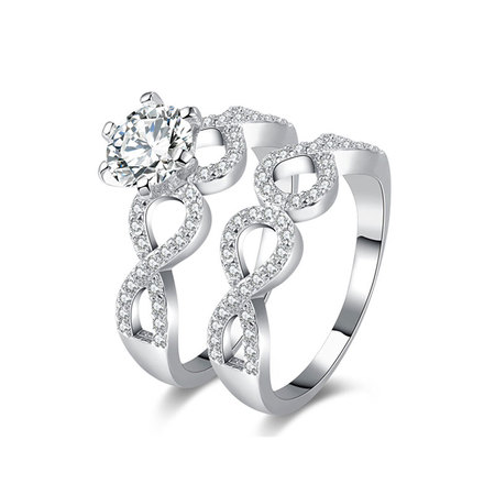 Infinity & Infinity Diamond Ring Set