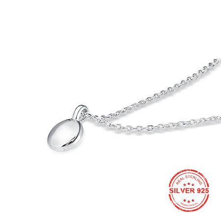Creative Buckle 925 Sterling Silver Necklace