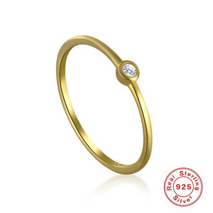 Bonnie Solitaire Sterling Silver Ring