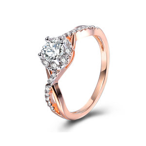 Separations Twist Halo Daimond Ring