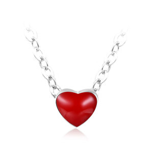 Red Heart 925 Sterling Silver Necklaces