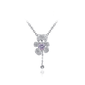 Little Bear Necklace - White Gold