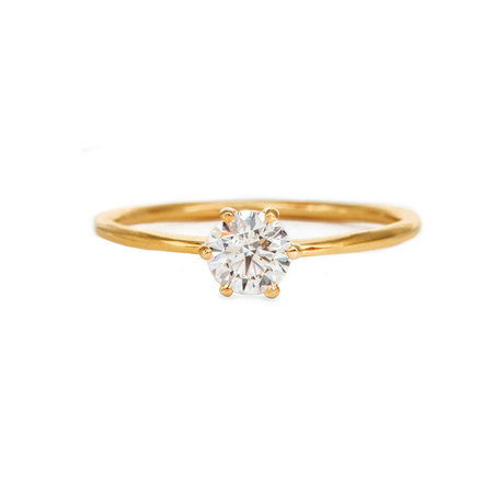 Classic 18K Round Solitaire Ring