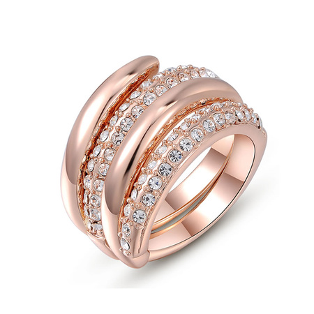 Double Enwind Rose Gold Ring Set