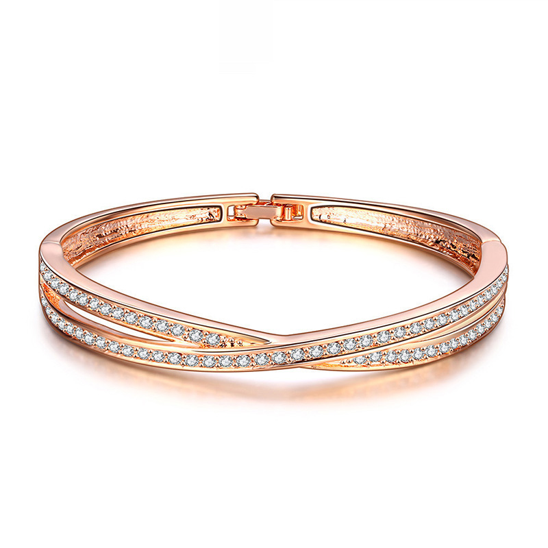 Intersect Rose Bangle