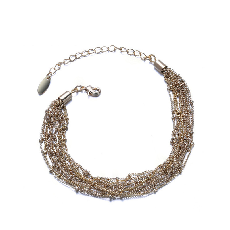 Pale Yellow Gold Multi-Wire Bracelet