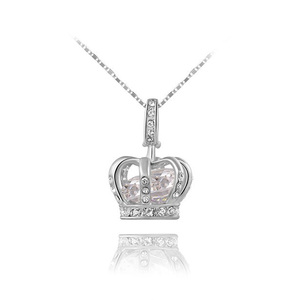 Crown Treasure White Gold Pendant