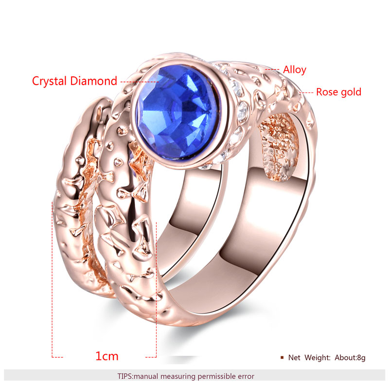 Serpentine Sapphire Rose Gold Ring