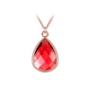 Teardrop Ruby Rose Gold Pendant