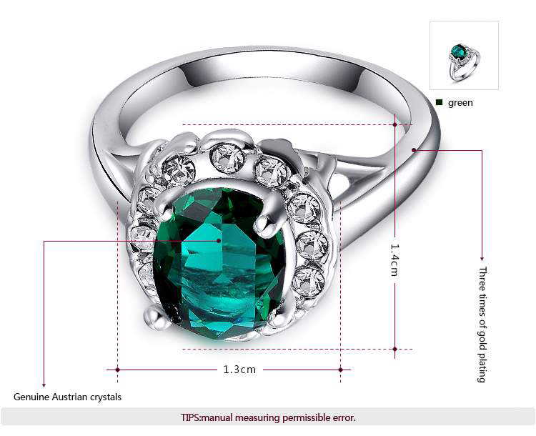 Semi-Mount Turquoise White Gold Ring