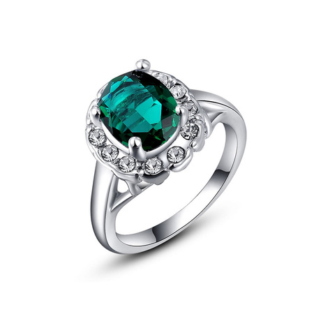 Semi-Mount Emerald White Gold Ring