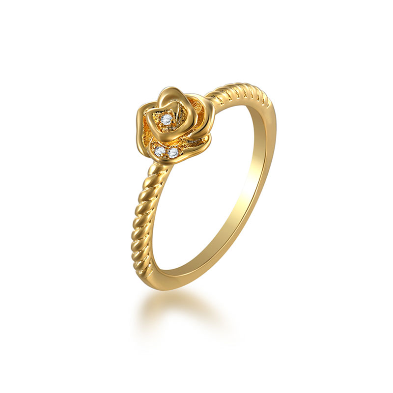Ins Style Rose 18K Gold Ring