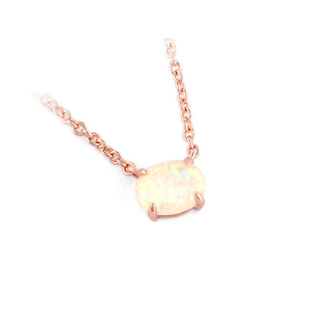 Yourself Egg Opal Rose Gold Necklace