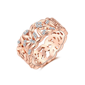 Cut Out Pattern Rose Gold Ring