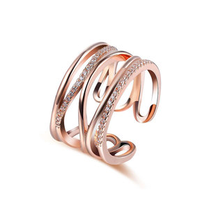 Multi-thread Open Adjustable Ring