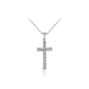 Cross Fully-jewelled White Gold Pendant