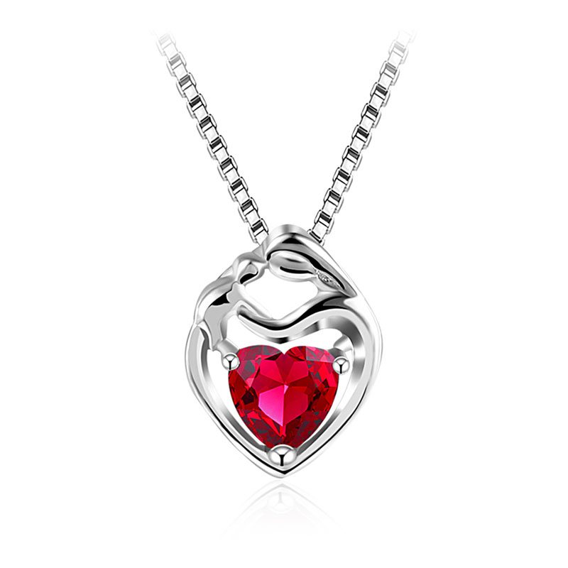 Little Red Heart Pendant Necklace