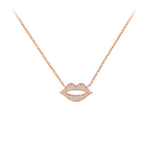 Personalized Lip Rose Gold Necklace
