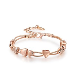 Rose Gold Classics Love Hearts Bracelets