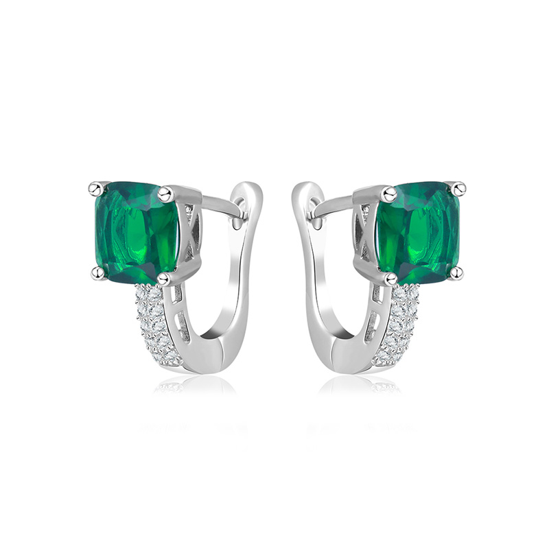 Emerald Fashion Clip Earrings