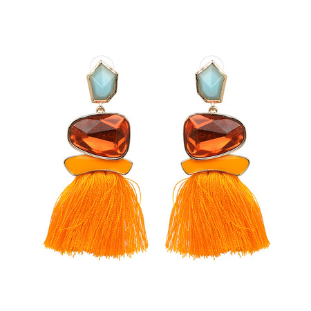 Ethical Style Yellow Tassel Earrings - Ruby