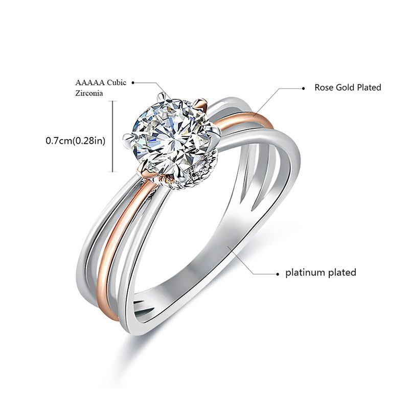Elegant Solitaire Two-Tone Diamond Ring