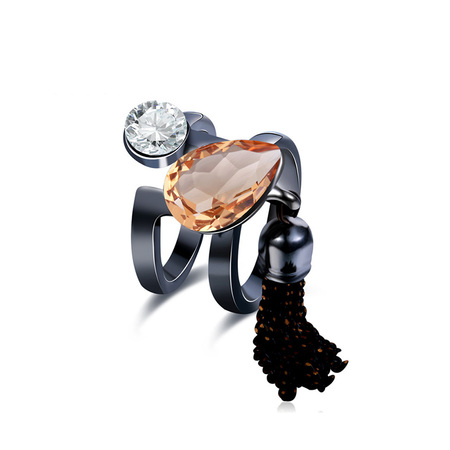 keep Pace Topaz Black Ring