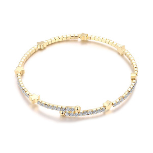 Snake Bone 18K Gold Bangle
