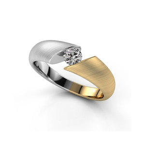 Fine Elegant Two-Tone Wedding Ring
