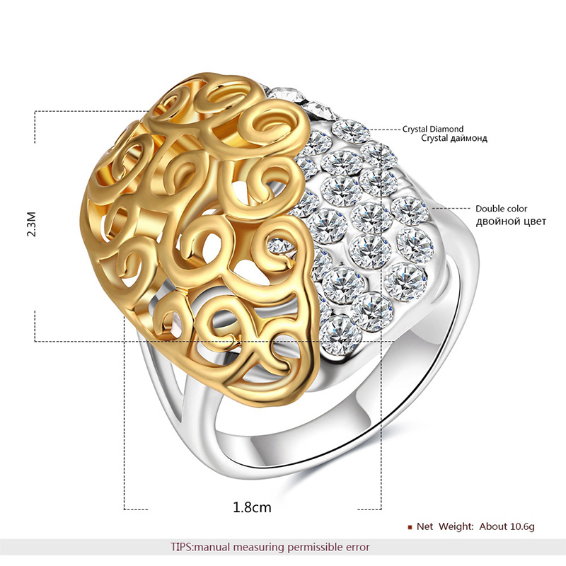 Cut Out Pattern Two-Tone Ring