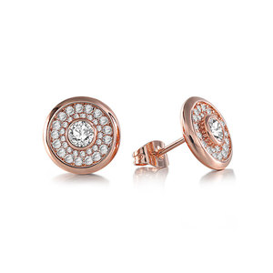Luxurious Fashion Rose Gold Stud Earrings