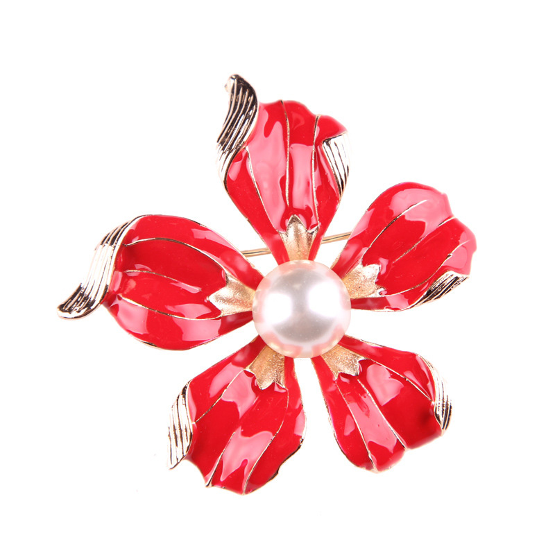 China Flower Brooch
