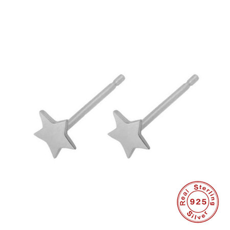 Starry 925 Sterling Silver Stud Earrings