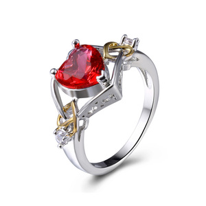 Heart Ruby Valentine Two-Tone Ring