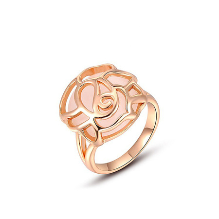 Cut Out Opal Rose Gold Ring