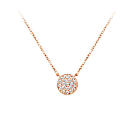 Concise Starry Sky Rose Gold Necklace