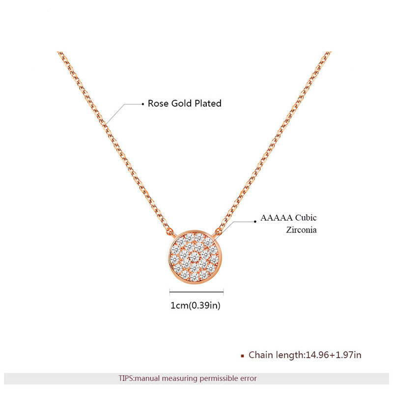 Concise Starry Sky Pendant Rose Gold Necklace
