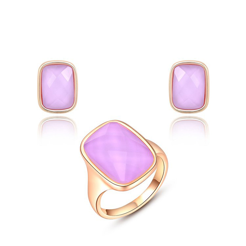 Rectangle Pink Diamond Set