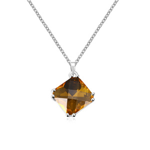 Rhombus Yellow Gem Necklace