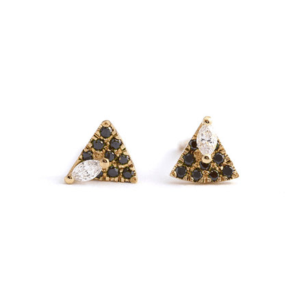 Delta Wing Marquise Diamond 18K Gold Earrings