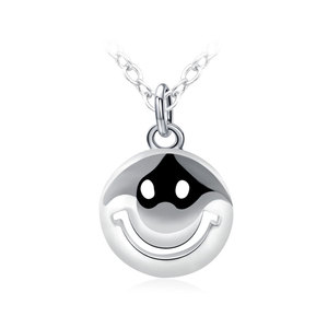 Smiling Face 925 Sterling Silver Necklace