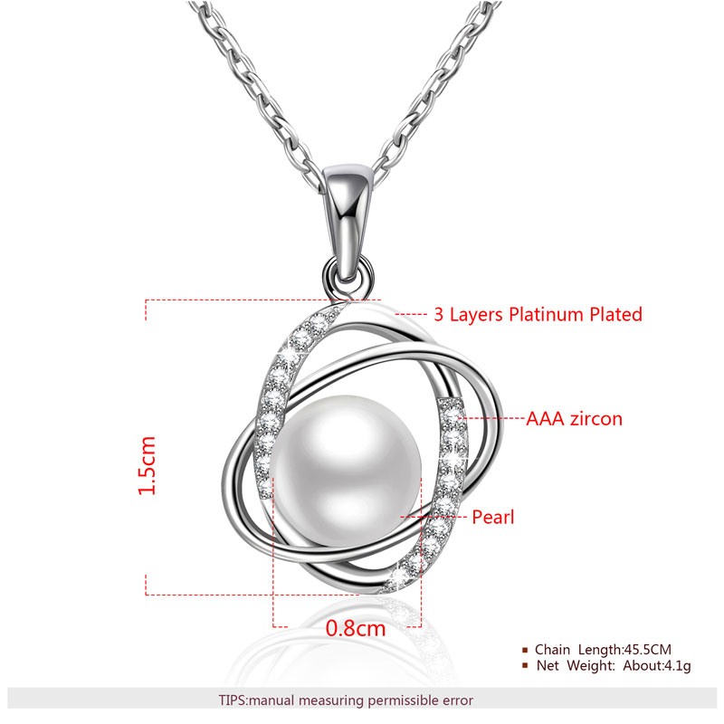 The World Pearl & Diamond Pendant White Gold Necklace