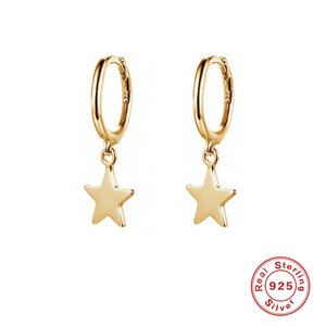 Pendular Star Sterling Silver Drop Earrings