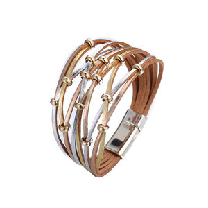 Men & Women Charm Multilayer Leather Bracelets