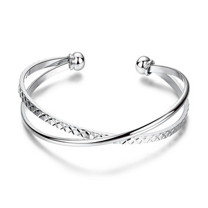 Intersect Open Bangle
