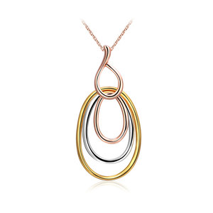 Three-Color Multi-Ring Necklace