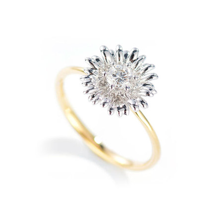 Frost Flower Two-Tone Ring