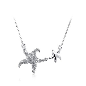 Double Starfish Pendant Necklace