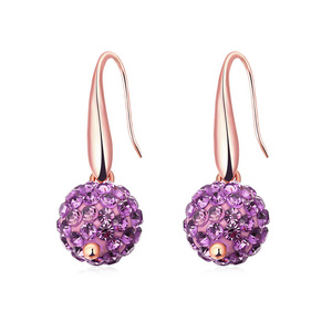 Moon Surface Amethyst Earrings