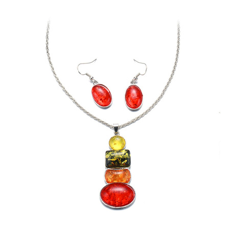 Colorful Fruit White Gold Set